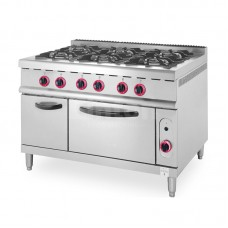 Linkrich Gas Range 6-Burner With Oven