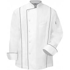 Newchef Fashion Master Chef Coat White with Black Trim