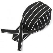 Black and White stripe Pirates Chef Cap Skull Cap