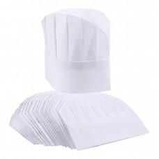 20 Pieces White Reusable / disposable Chefs Hat cap