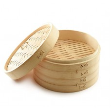 Asian Kitchen Bamboo Food Steamer with Lid