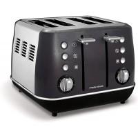 Morphy Richards Evoke 4 Slice Toaster 240105 Black Four Slice Toaster Black Toaster