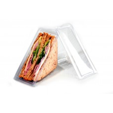 100 pieces Triangle Clear Plastic Sandwich Container/Sandwich Pack - with Lid