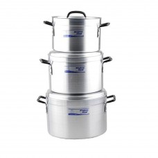 Commercial Kitchen king Cooking Pots Set of 3 ( 36, 39, 41)